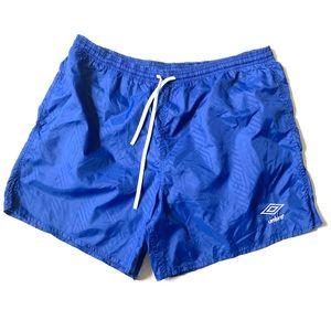 Vintage UMBRO shorts blue L/Xl fit soccer shorts